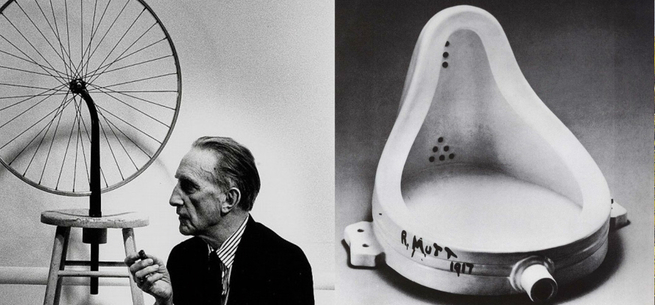Duchamp e o urinol.