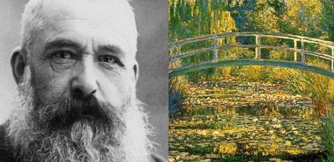 Monet e O tanque das ninfeias.