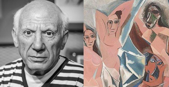 Picasso e Les demoiselles d'Avignon.