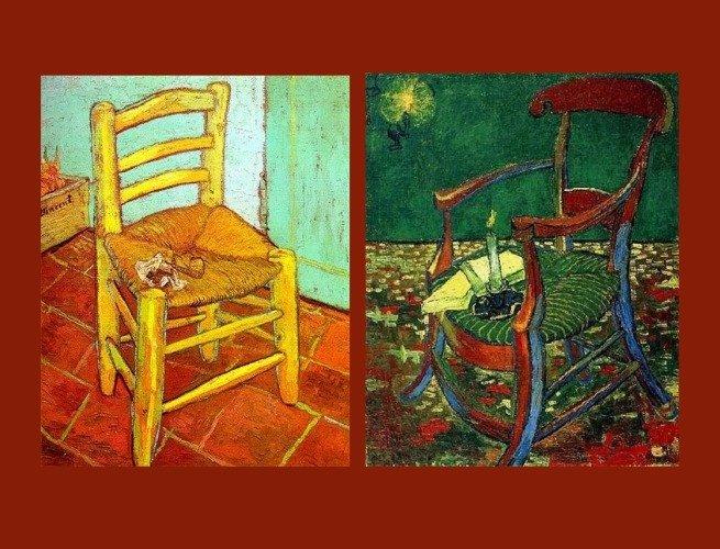 Cadeiras de Van Gogh e Goauguin