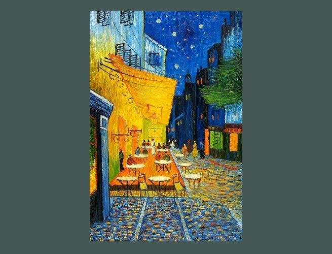 O Terraço do Café na Place du Forum, Arles, à Noite(1888)