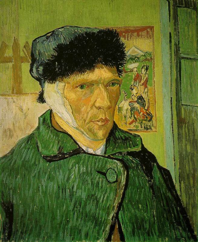 Autorretrato com orelha cortada, Van Gogh