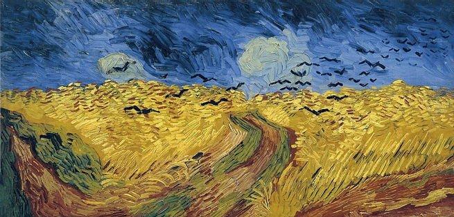 Campo de trigo com corvos, de Van Gogh