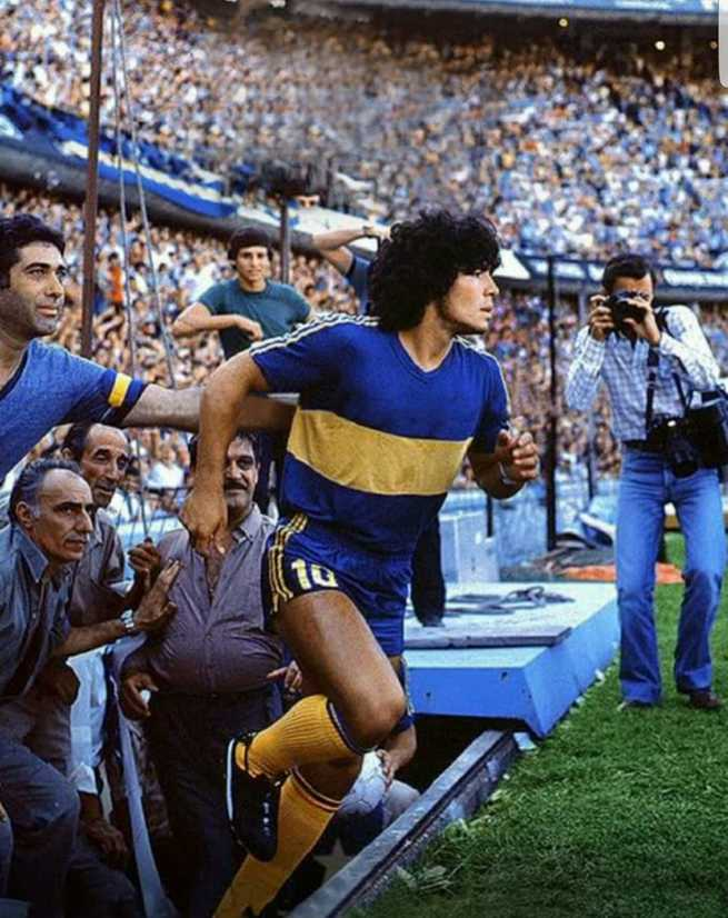Maradona no Boca Juniors em 1981