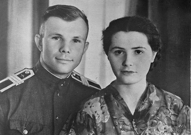 Yuri Gagarin e Valentina Ivanovna
